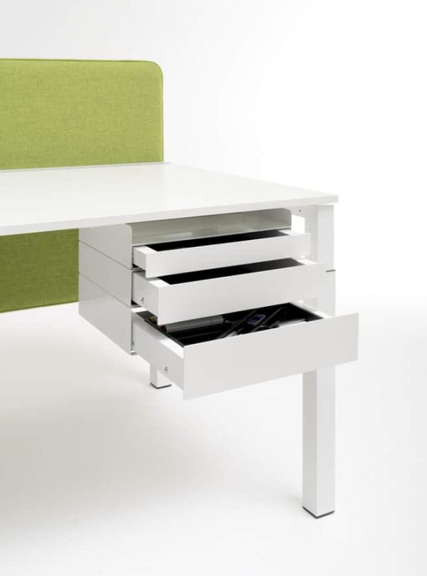 Schubladen MyBox unter Tischplatte montiert