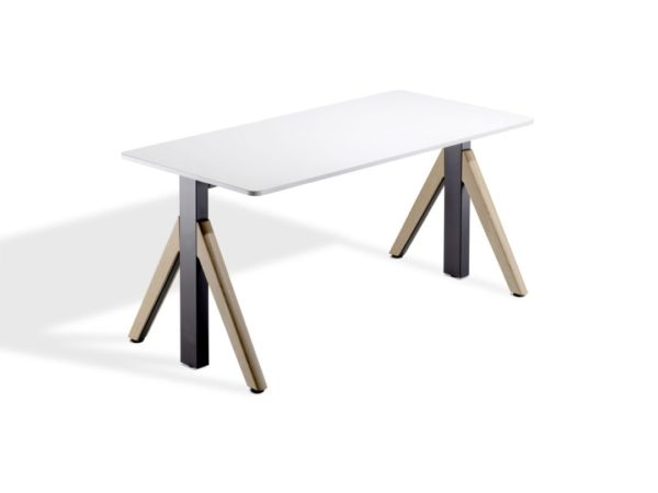 WINEA Flow in weiß als Sitz-Steh-Tisch