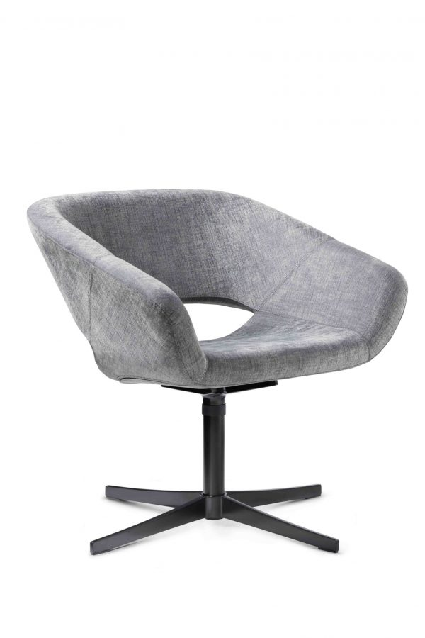 Averio Stuhl mit schwarzem Kreuzfuß Gestell